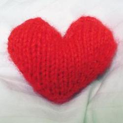 Knitted Valentine&#039;s Heart PDF
