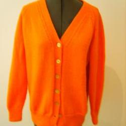 Bright Orange Retro Cardigan