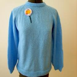 Blue Retro Sweater